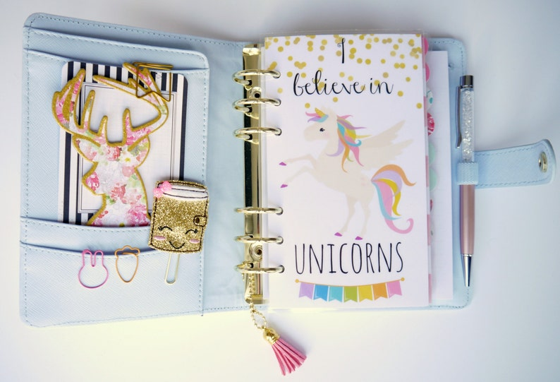 I Believe In Unicorns Personal A5 A6 B6 and Pocket Size image 0