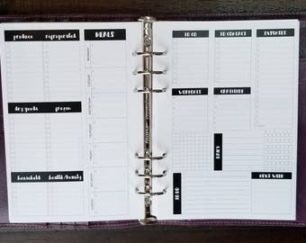 A5 Weekly Organizer Printed Planner Inserts