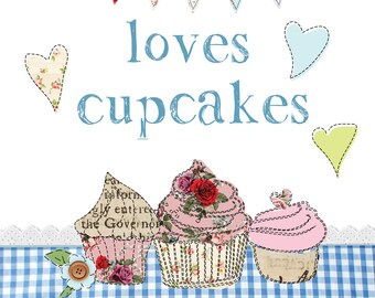 Personalised Loves Cupcakes Aprons, Printed Fun Novelty Gifts, Unique Presents For Men Women & Teenagers