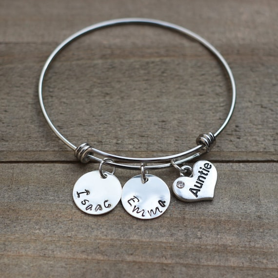 Silvertone Green Ribbon Aunt You Are Loved Circle Bracelet 8