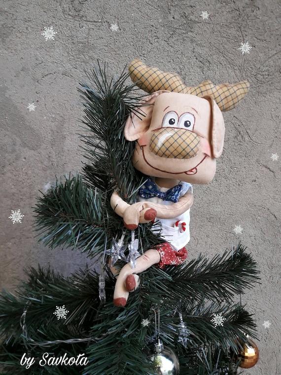 Moose Christmas tree topper /Christmas Moose | Etsy