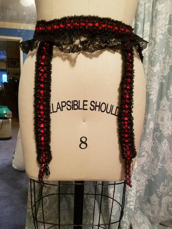 Burlesque vaudeville costume 20s 30s red black vin