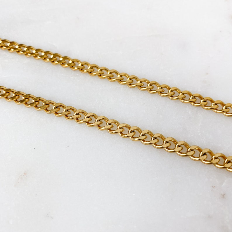 Cuban Link Curb Belly Waist Chain in Stainless Steel