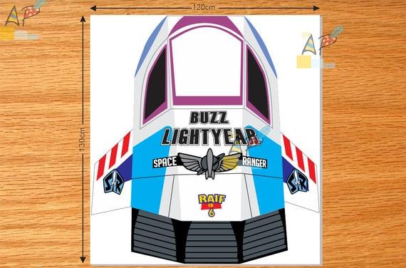 Astounding Toy Story Buzz Lightyear Spaceship Decoration Diy Digital File Printable Download Free Architecture Designs Scobabritishbridgeorg