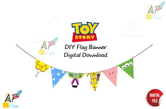 Toy Story Themed Flag Banner DIY Printable PDF