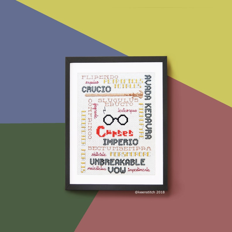 Pottermini Curses - Harry Potter Cross Stitch Pattern PDF, Voldemort Wand,  Unforgiveable Curses, Hexes, Jinxs, Easy, Beginner by keenstitch