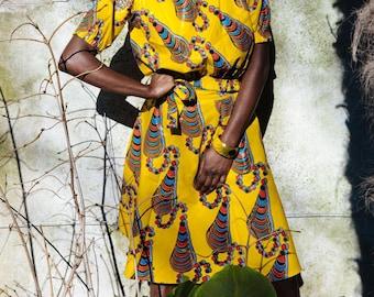 African Wrap Skirt Ankara Wrap Skirt Wax Print Skirt Festival Skirt Ankara Beach Skirt