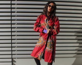 African Trench Coat Dashiki Winter Coat Dashiki Coat Dashiki Winter Jacket African Clothing African Bomber Jacket