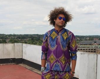 African Print Shirt Ankara Shirt African Top Festival Shirt African Shirt Festival Clothing Festival Outfit African Clothing