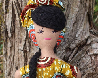 Baby Christmas Gift Baby Shower Gift Girls Doll African Doll Rag Doll Kids Birthday Present Girl Multicultural Doll Black Doll Cultural Toys
