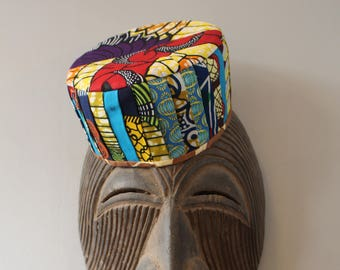 African Top Hat - Fatou Hat - Patchwork Hat - African Cap - African Accessories - Top Hat - Bucket Hat - Winter Scarf - Colourful Hat