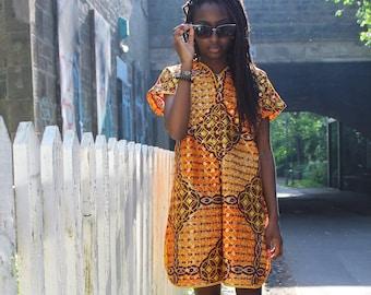 African Print Dress Shift Dress Patterned Dress Festival Dress Colourful Dress Ankara Dress African Dress Summer Outfit African Fashion