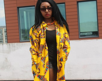 African Shirt Dress Boyfriend Shirt Bohemian Clothing Festival Clothing Afro Punk Ankara Dress Oversized Shirt Dashiki Dress Festival