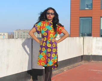 Ankara Shirt Dress Ankara Dress African Shirt Dress Bohemian Dress