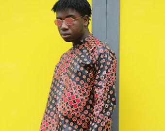African Print Shirt - Ankara Shirt- African Top - Festival Shirt - African Shirt - Festival Clothing - Festival Outfit - African Clothing