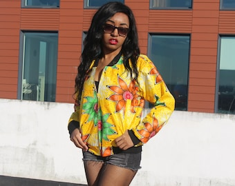 African Bomber Jacket Womens African Fashion Wax Bomber Jacket Aesthetic Clothing African Jacket Boho Clothing Bomber Festival clothing
