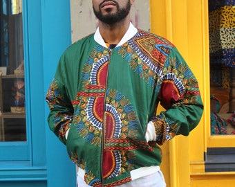 African Jacket - African Clothing - Dashiki Jacket - Dashiki Bomber jacket - Ankara Clothing - Festival Clothing - Winter Jacket -