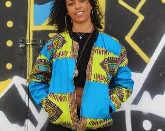 African Bomber Jacket - Winter Bomber - African Jacket - Dashiki Bomber jacket - African Clothing - Festival Clothing - Festival Jacket