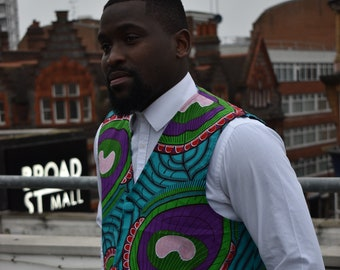 African Waistcoat Ankara Vest Boho Waistcoat African Vest Continent Clothing Festival Vest Tribal Ethical Aztec Continent Clothing