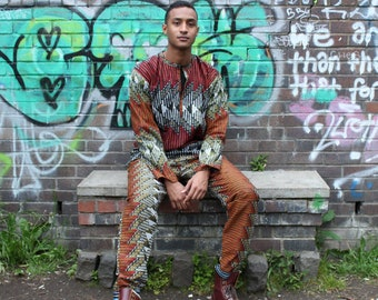 CONTINENT CLOTHING Festival Outfit Ankara / Shell Suit / Crazy Pattern Aztec Hippy Boho Festival Fresh Prince Colourful Funky festival