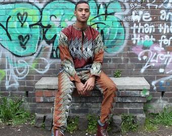 Ankara Suit African Print Suit African Tracksuit Festival Shirt Festival Clothing Ankara Shirt Kente Shirt