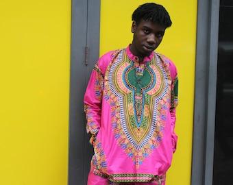 Mens African Fashion Dashiki Shirt African T-Shirt Festival Clothing Mens Dashiki Top African Two Piece African Shirt Mens Festival Shirt