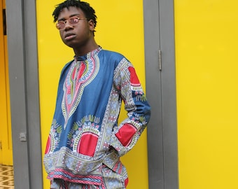Mens African Fashion Dashiki Shirt African Top Festival Clothing Mens Dashiki Top African Two Piece African Shirt Mens Festival Shirt