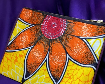 African Print Purse Yellow Coin Purse Ankara Purse