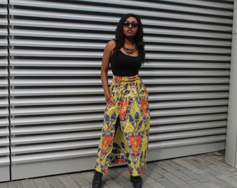 sustainable clothing African Skirt African Maxi Skirt African Clothing Gold Skirt Ankara Skirt Continent Clothing