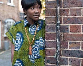 African Shirt Dress Ankara Shirt Dress African Shift Dress African Clothing