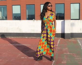 Ankara Dress African Dress African Print Maxi Dress Ankara Print Dress African Clothing Boho Style Dress