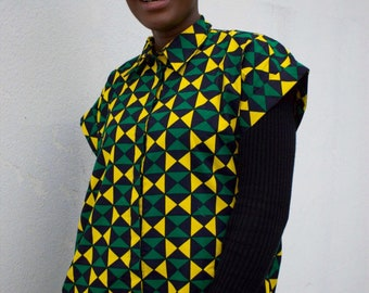 CONTINENT CLOTHING African Shirt Dress African Dress Wax Print Dress Ankara Dress African Clothing Festival Dress Boho Dress Ethnic Dress