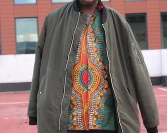 CONTINENT CLOTHING Tribal Print Shirt / African Shirt / Dashiki Aztec Hippy Festival Colorful Shirt Boho Shirt