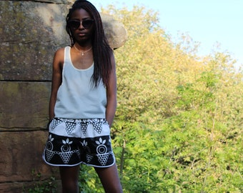 Womens Shorts African Shorts Wax Print Shorts Ankara Shorts Festival Shorts Hot Pants Print shorts Booty Shorts Knickers African Hotpants