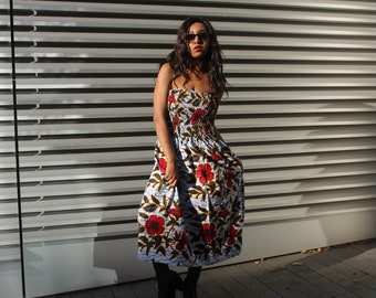 Ankara Print Dress African Dress African Print Dress Ankara Dress African Clothing Boho Style Dress