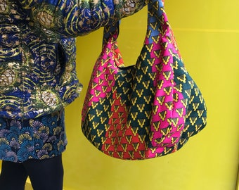 African Handbag African Print Handbag Kente Handbag Ankara Bag Wax Print Handbag Top Handle Summer Bag Festival Bag