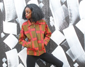African workwear Jacket - African Jacket - Wax Print Jacket - Festival Clothing - Festival Jacket - Ankara Jacket - Winter Clothing