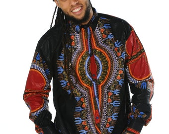 African Shirt Dashiki Shirt African Fashion Mens Dashiki Top African Clothing Dashiki Shirt Festival Shirt Dashiki Wax Print Shirt