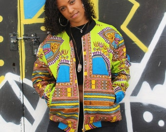 African Bomber Jacket Winter Jacket Dashiki Jacket Dashiki Puffer Coat African Clothing Festival Clothing Festival Jacket CONTINENT CLOTHING
