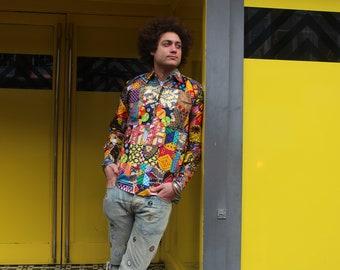 African Patchwork Shirt Ankara Prints Festival Shirt