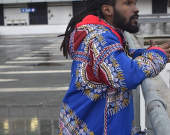 Dashiki Coat African Parka Coat African Puffer Coat Down Jacket African Winter Coat Dashiki Parka Continent Clothing Fresh Prince Parka