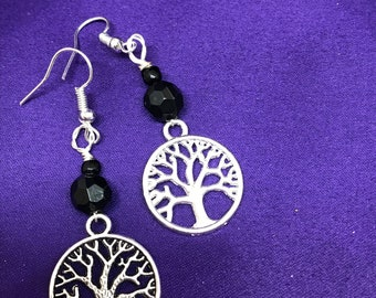 Tree of Life Earrings Christmas Present Statement Earrings Silver Ankh Earrings African Jewellery
