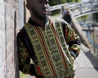 African Bomber Jacket Ethnic Jacket Dashiki Jacket AfroPunk Burning Man Festival Clothing African Clothing African Jacket Festival Jacket