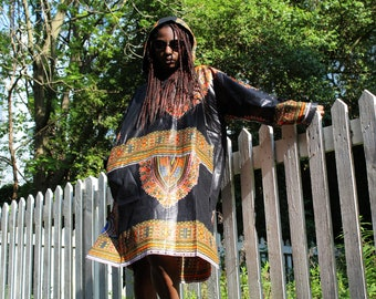 Dashiki Hoodie African Oversized Hoodie African Dress African Oversized Dress Dashiki Oversized Dress African Clothing Continent Clothing