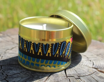 Scented Candle African Candle Collection Strong Candle Small Candle Soy Wax Candle African Gift Vegan Candles Bridal Shower Gift