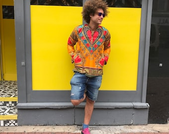 Mens Shirt African Dashiki Shirt African Top Festival Shirt African Clothing African Two piece Ethical Clothing Ethnic Shirt Festival Shirt