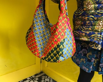 Ankara Handbag African Print Handbag Kente Handbag Ankara Bag Wax Print Handbag Top Handle Summer Bag Festival Bag