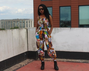 African Print Jumpsuit in Patchwork