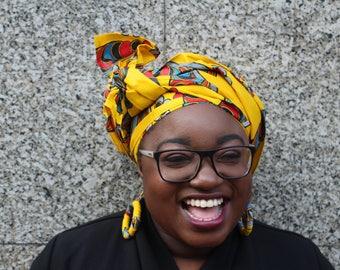 Ankara Headwrap African Headwrap African Head Wrap Aftican Head Tie African Print Head Scarf