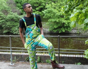 Festival Dungarees African Print Dungarees Ankara dungarees African Clothing African Trousers African Dungarees African Overalls